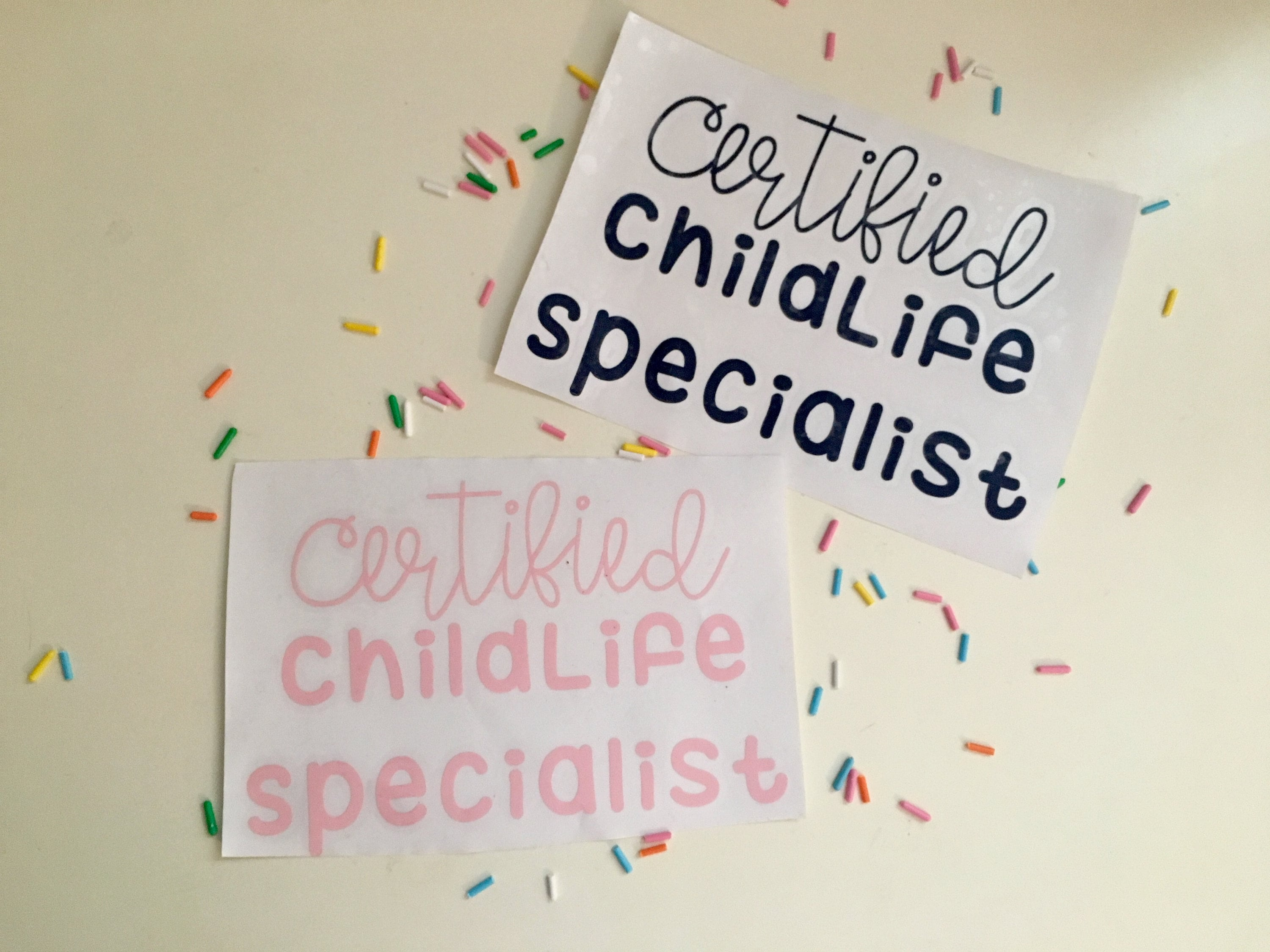 Certified Child Life Specialist Decal Etsy