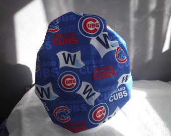 659010d41dc Bouffant surgical scrub hat medical blue MLB baseball chicago cubs