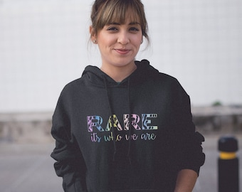 Rare It's Who We Are Rainbow Watercolor Hoodie