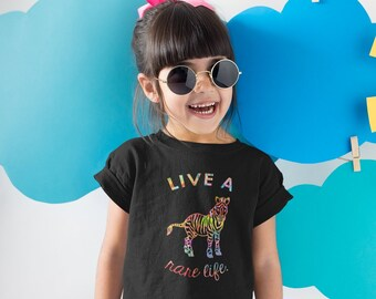 Live A Rare Life Paint Kids Shirt - YOUR COLOR SHIRT