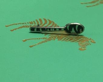 Zebra Striped Spoon Pin/Enamel *
