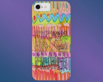Fighter Typography Paint Phone Case