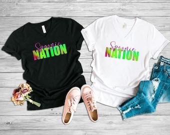 Spoonie Nation (Pink) Adult VNeck Shirt