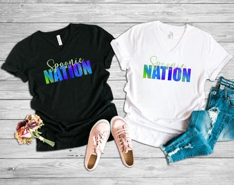 Spoonie Nation (Green) Adult VNeck Shirt