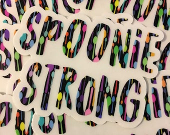 Spoonie Strong Spoons Sticker *