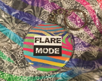 Flare Mode Abstract Zebra Print Keychain *