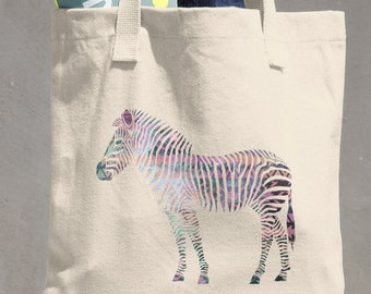 Aztec Zebra Tote Bag