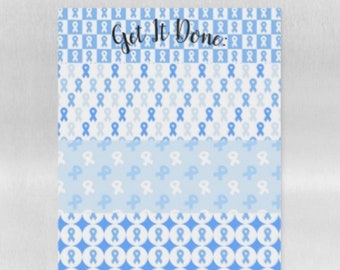 Get It Done Awareness Magnetic Dry Erase Sheet - YOUR COLOR *