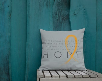 Chronic Illness Hope/Orange Twosided Pillow Case with Stuffing