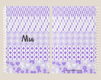 Purple Ribbons Personalized Name Planner *