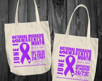 June/Migraine Awareness Month Tote Bag