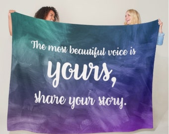 Most Beautiful Voice Is Yours Blanket *