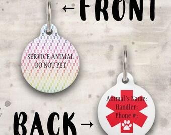 Service Animal Awareness Ribbon Dog Tag