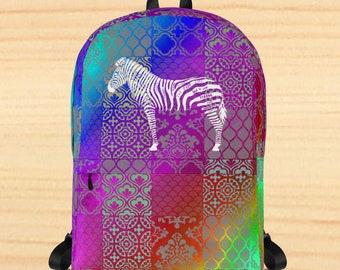 Zebra Words Backpack