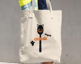 Boo Halloween Spoon Tote Bag