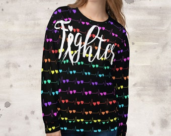 All Over Print Tachy Fighter Sweatshirt
