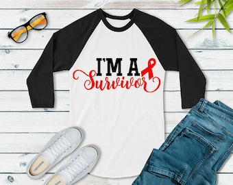 I'm A Survivor (Red) Raglan