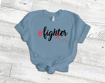 Hashtag Fighter Adult Shirt/Red - YOUR SHIRT COLOR