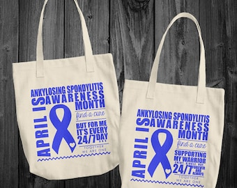April/Ankylosing Spondylitis Awareness Month Tote Bag