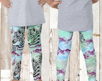 SALE Kids Zebra Leggings