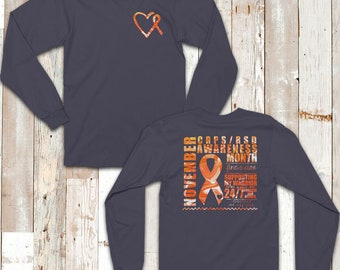 November CRPS/RSD SUPPORTER Awareness Day Marble Two Sided Shirt