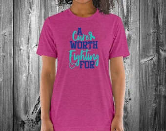A Cure Worth Fighting For (Turquoise) Adult Shirt - YOUR COLOR SHIRT