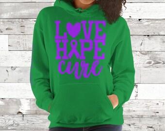 Cystic Fibrosis/Love Hope Cure Hoodie