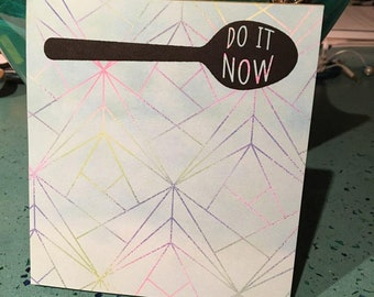 Do It Now Spoon Notepad *