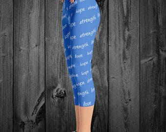 Strength Hope Love Adult Leggings - YOUR COLOR