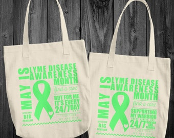 May/Lyme Disease Awareness Month Tote Bag