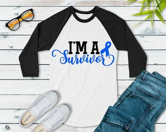 I'm A Survivor (Blue) Raglan