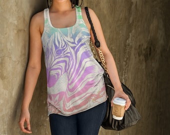 Fierce Zebra All Over Print Tank