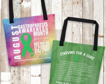 August Gastroparesis Facts Awareness Month Tote Bag