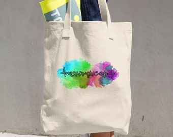 Never Give Up Watercolor Tote Bag