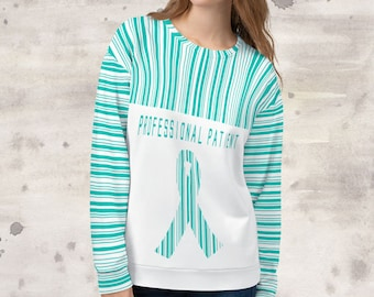 All Over Print Professional Patient/Teal Sweatshirt