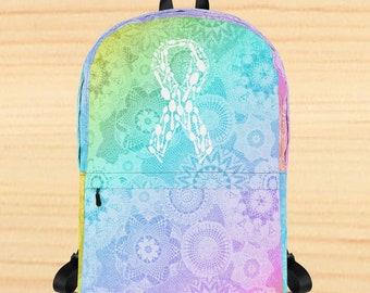 Spoonie Ribbon Mandala Backpack