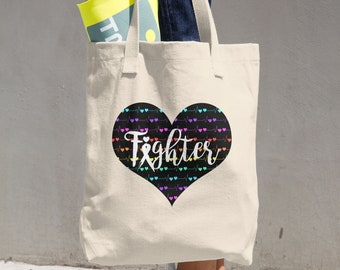 Tachy Fighter Hearts Tote Bag