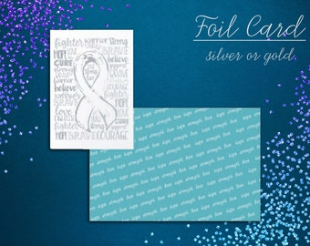 Awareness Words Foil Card - YOUR OPTIONS