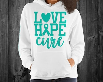 Polycystic Kidney Disease/Love Hope Cure Hoodie