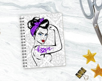 Purple Warrior Damask Planner *