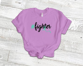 Hashtag Fighter Adult Shirt/Green - YOUR SHIRT COLOR