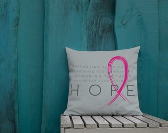 Chronic Illness Hope/Pink Twosided Pillow Case with Stuffing