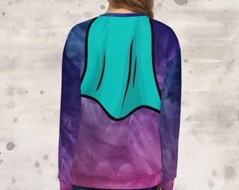 All Over Print Dysautonomia Hero Cape Sweatshirt