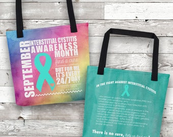 September Interstitial Cystitis Facts Awareness Month Tote Bag
