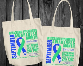 September/Intracranial Hypertension Awareness Month Tote Bag