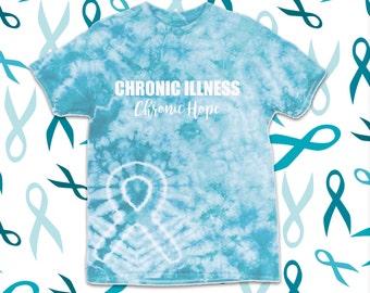 Chronic Illness Chronic Hope - Turquoise Tie Dye *