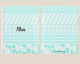 Teal Ribbons Personalized Name Planner *