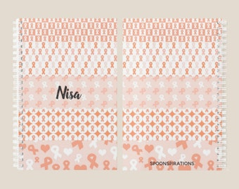 Orange Ribbons Personalized Name Planner *