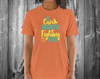 A Cure Worth Fighting For (Yellow) Adult Shirt - YOUR COLOR SHIRT