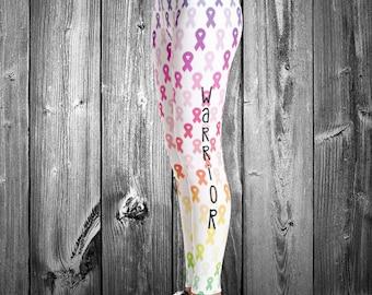 Warrior Rainbow Awareness Ribbons Leggings
